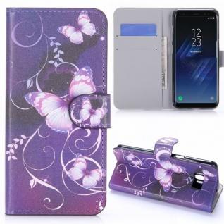 Schutzhülle Motiv 38 für Samsung Galaxy S8 G950 G950F Tasche Hülle Case Flip Neu