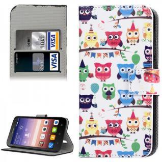 Schutzhülle Muster 43 für Huawei Ascend Y625 Bookcover Tasche Hülle Wallet Case