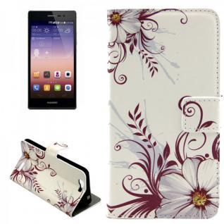 Schutzhülle Muster 77 für Huawei Ascend G7 Bookcover Tasche Case Hülle Wallet
