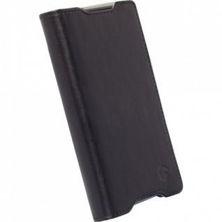 Krusell Kiruna Flip Case Echtleder Tasche Hülle für Sony Xperia Z5 Compact NEU