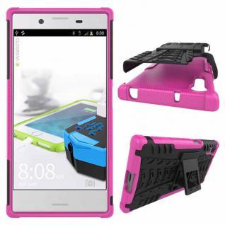 Hybrid Case 2teilig Outdoor Pink Tasche Hülle für Sony Xperia XZ F8331 Schutz