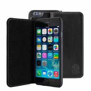 Bugatti Ledertasche für Apple iPhone 6 Plus Schwarz Tasche Schutzhülle Book Case
