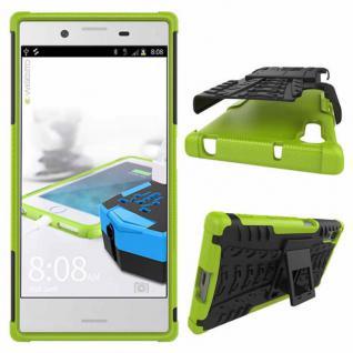 Hybrid Case 2teilig Outdoor Grün Tasche Hülle für Sony Xperia XZ F8331 Schutz