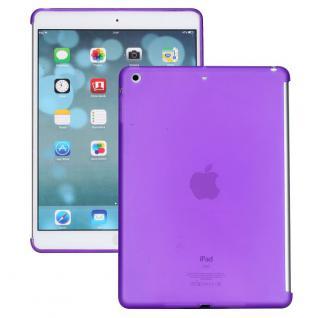 Schutzhülle Silikon Lila Hülle Cover Kappe für Apple iPad Air + Folie Neu Top