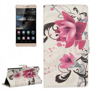 Schutzhülle Muster 3 für Huawei Ascend P8 Bookcover Tasche Hülle Wallet Case Neu