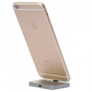 Dockingstation Dock für Apple iPhone 7 6S 6 und Plus SE Tischladestation Grau