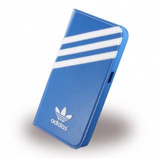 Adidas Basics Book Cover Tasche Handy Hülle für Samsung Galaxy S6 G920F Blau Neu