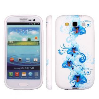 Silikoncover Gemustert 18 für Samsung Galaxy S3 i9300 Hülle Schale Cover + Folie