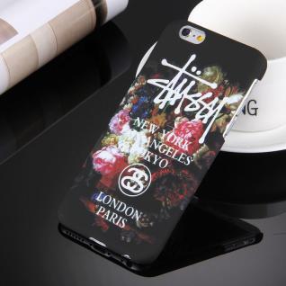 Day Night Schutzhülle Cover für Apple iPhone 6S 6 Style Hardcase Blume Schwarz