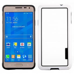 Hybrid Bumper Weiss Hülle Case Schale Tasche für Samsung Galaxy Alpha G850 G850F