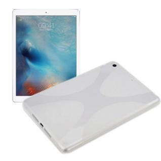 Schutzhülle Silikon X-Line Weiß Hülle für Apple iPad Pro 12.9 Tasche Cover Case