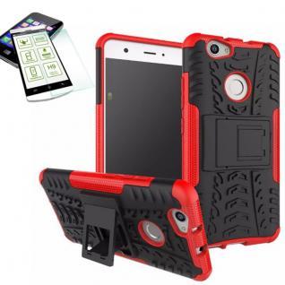 Hybrid Case Tasche Outdoor 2teilig Rot für Huawei Nova + Panzerglas Cover Schutz