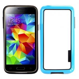 Bumper Hellblau Hülle Case Schale Tasche für Samsung Galaxy S5 Mini G800 G800F A