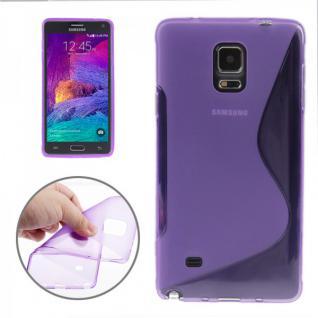 Silikonhülle S-Line Lila Cover Hülle für Samsung Galaxy Note 4 N910 N910F Neu
