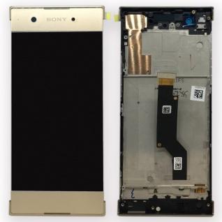 Sony Display LCD Komplett mit Rahmen für Xperia XA1 und Dual Gold Ersatzteil Neu