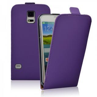 Fliptasche Deluxe Lila für Samsung Galaxy S5 G900F Tasche S5 Plus G901F Hülle