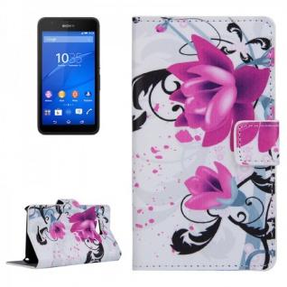 Schutzhülle Muster 3 für Sony Xperia E4G Bookcover Tasche Hülle Wallet Case