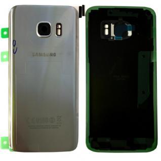 Samsung GH82-11384B Akkudeckel für Galaxy S7 G930F + Klebepad Adhesive Silber
