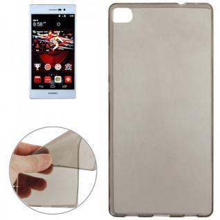 Silikonhülle 0, 3 ultra dünn Grau für Huawei Ascend P8 Tasche Case Schutzhülle