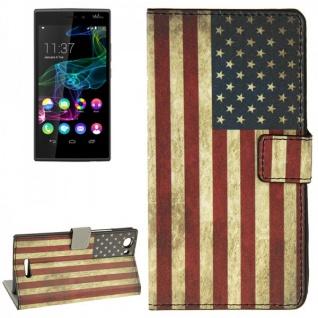 Schutzhülle Muster 10 für Wiko Ridge Fab 4G Bookcover Tasche Hülle Wallet Case