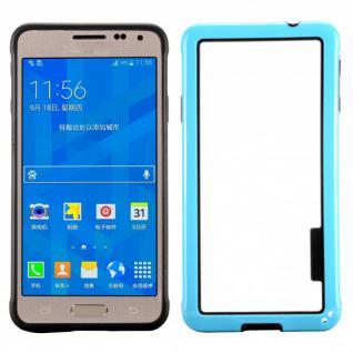 Hybrid Bumper Hellblau Hülle Schale Tasche für Samsung Galaxy Alpha G850 G850F