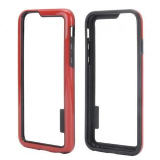 Hybrid Schutz Bumper Rot Hülle Case Tasche für Apple iPhone 6 4.7 Kappe Neu Top