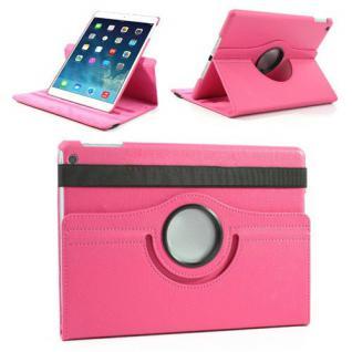 Schutzhülle Kunstleder 360 Grad Tasche Pink für Apple iPad Air 2 Hülle Case Neu
