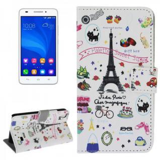 Schutzhülle Muster 42 für Huawei Ascend G620S Bookcover Tasche Hülle Wallet Neu