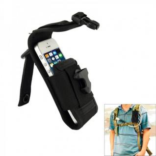 Outdoor Tasche Schwarz Hülle Case Zubehör für Smartphones 12, 5 cm x 7 cm x 2 cm
