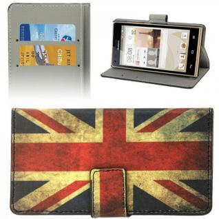 Schutzhülle Muster 9 für Huawei Ascend G6 Bookcover Tasche Hülle Wallet Case