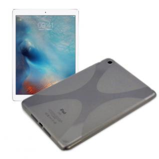Schutzhülle Silikon X-Line Grau Hülle für Apple iPad Pro 12.9 Tasche Cover Case