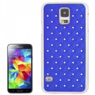 Hardcase Diamant Blau Case Hülle Cover für Samsung Galaxy S5 G900 G900F Schutz