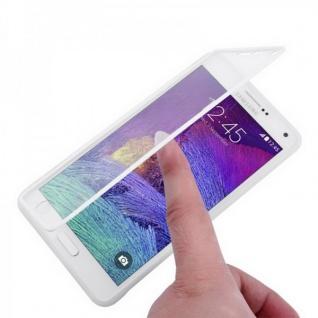 Design Cover mit Frontabdeckung Weiss für Samsung Galaxy Note 4 N910 N910F Hülle
