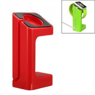 Halterung Rot für Apple Watch Ständer Tisch Zubehör Lade Station 38mm 42mm Neu