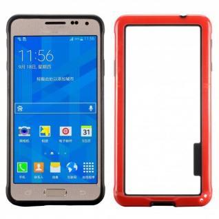 Hybrid Bumper Rot Hülle Case Schale Tasche für Samsung Galaxy Alpha G850 G850F