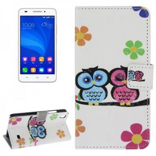Schutzhülle Muster 44 für Huawei Ascend G620S Bookcover Tasche Hülle Wallet Neu