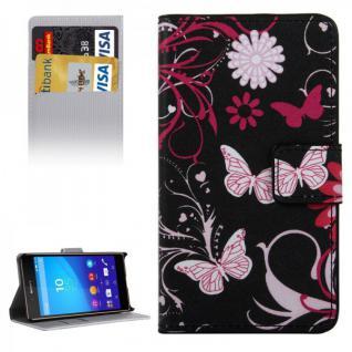 Schutzhülle Motiv 4 für Sony Xperia Z5 Compact 4.6 Zoll Bookcover Tasche Hülle