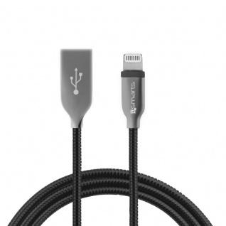 4smarts FERRUMCord FlipPlug für Apple Datenkabel Kabel 1m USB Ladekabel Schwarz