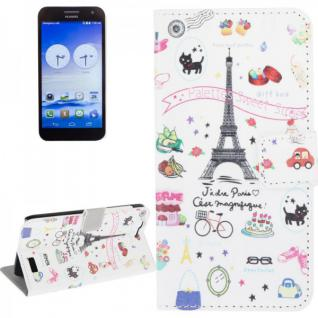 Schutzhülle Muster 41 für Huawei Ascend G7 Bookcover Tasche Case Hülle Wallet