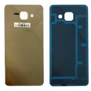 Samsung GH82-11093A Akkudeckel für Galaxy A3 2016 A310F + Klebepad Adhesive Gold