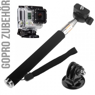 Armverlängerung Stativ für GOPRO HERO 3 Handstativ Zubehör Teleskop Stange Kamera Halter