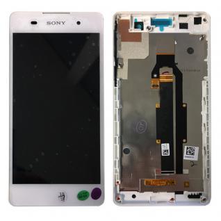 Sony Display LCD Komplett mit Rahmen für Xperia E5 F3311 Weiß Ersatz Reparatur