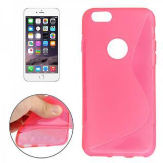 Silikon Case S-Line Bull Eye Pink für Apple iPhone 6 4.7 Hülle Cover Kappe Neu