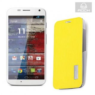 Original Rock Smartcover Gelb für Motorola Moto X XT1055 Hülle Case Cover Neu