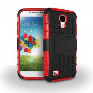 Hybrid Hülle 2 teilig Outdoor Rot Tasche für Samsung Galaxy S4 i9500 i9505 Case
