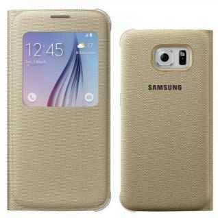 Original Samsung GALAXY S6 Schutzhülle Flat S View Cover Fabric EF-CG920BFEGWW