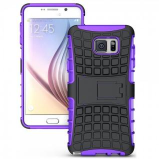 Hybrid Hülle 2 teilig Outdoor Lila Tasche für Samsung Galaxy Note 5 SM-N920 F