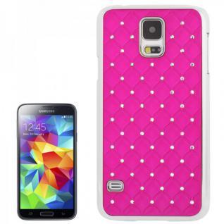 Hardcase Diamant Pink Case Hülle Cover für Samsung Galaxy S5 G900 G900F Schutz