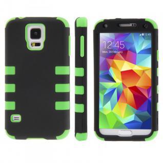 Hybrid Case 3teilig Gripp Grün Cover Hülle Zubehör Etui für Samsung Galaxy S5