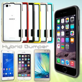 Hybrid Bumper für viele Smartphone Modelle Hülle Case Cover Etui Schale Kappe
